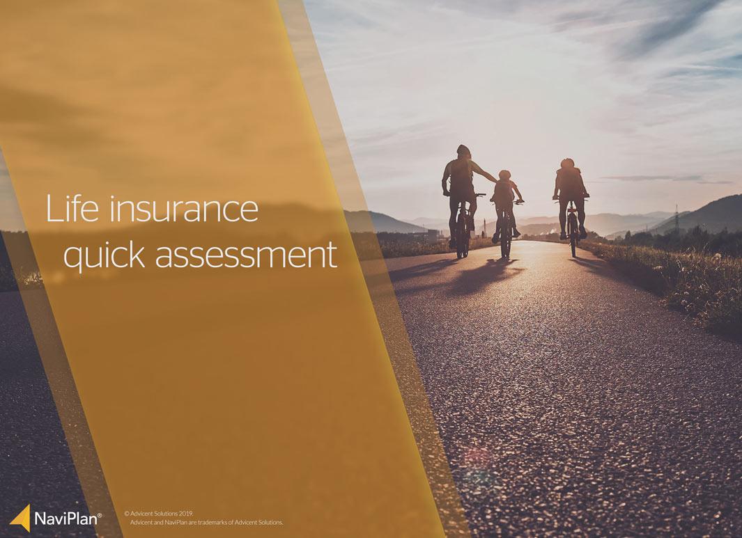 Life insurance quick assessment in the NaviPlan Presentation Module